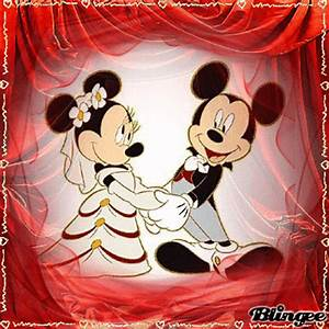 Mickey and Minnie in love Picture #127935750 | Blingee.com