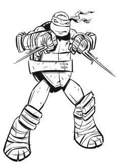 Imagenes Para Colorear Tortuga Ninja Impresion gratuita