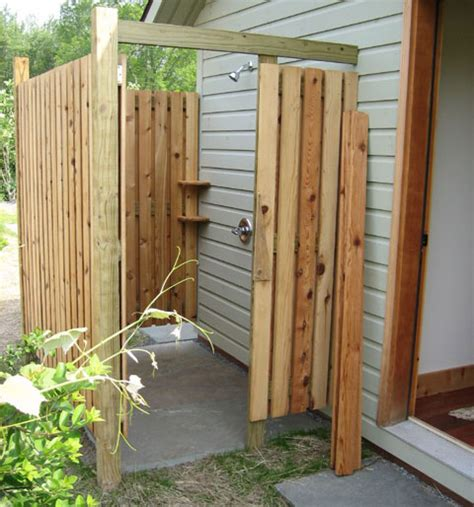 Building An Outdoor Bathroom How To Build An Outdoor Shower