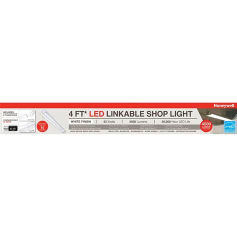 honeywell 4ft led shop light honeywell sh445505b123 linkable led garage shop light
