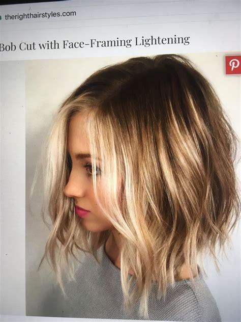 medium length bob hair hair hair color balayage hair