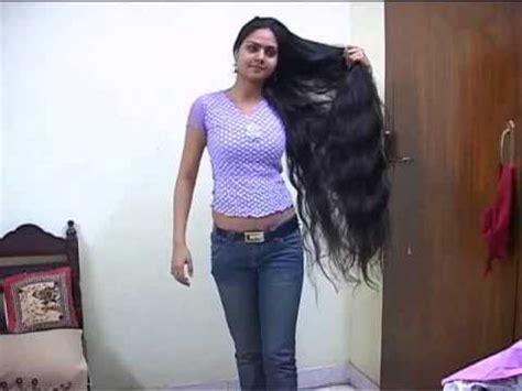 Naked backside long hair girl