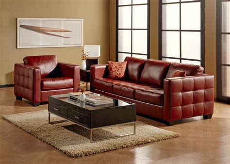 dark red leather sofa dark red top grain leather sofa