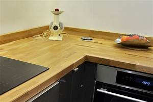 renovation de cuisine en u avec plans de travail en chene With assemblage plan de travail cuisine