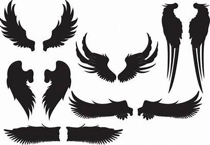 Clipart Wing Stencil Angel Alas Transparent Silhouette