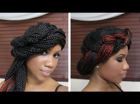 4 styles for box braids part two youtube