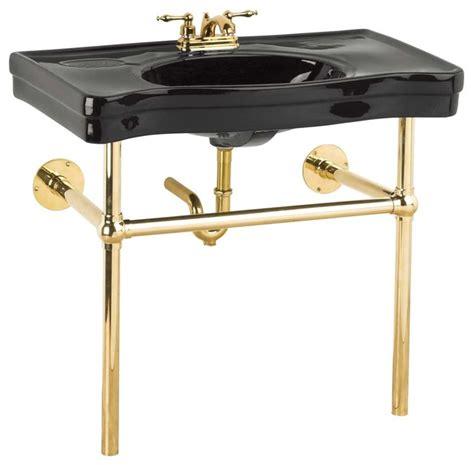 console sink with chrome legs console sinks black belle epoque sink bistro brass legs