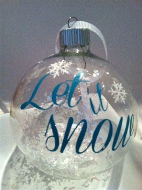 snow christmas ornament  decaldecorandmore