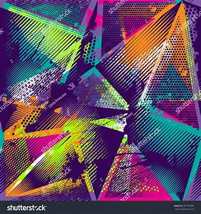 Abstract Seamless Geometric Pattern Urban Elements Stock