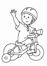 Coloring Caillou Pages Bike Printable Bicycle Drawing Cycling Cartoons Print Riding Safety Drawings Preschool Adult Getdrawings Toddlers Preschooler sketch template