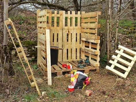 plans to build an outdoor bathroom diy pallet outdoor toilet pallet bathroom 101 pallet ideas