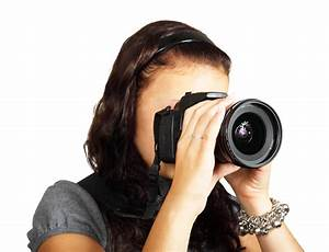 Young Female Photographer Taking Photos PNG Image - PngPix