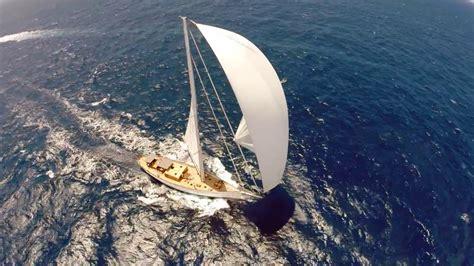drone footage  sailing boat emmaline racing youtube