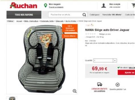 auchan siege auto bon plan puericulture siege auto 100 remboursé bons