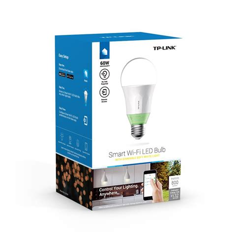 tp link smart led light bulb wi fi a19 dimmable white 60w