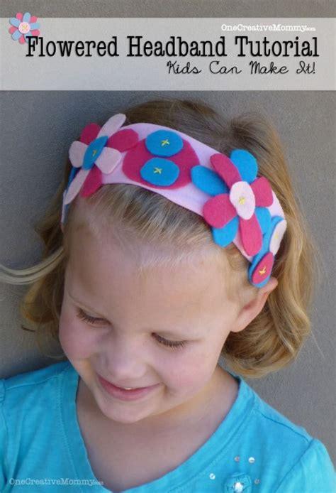 easy flowered headband tutorial  kids