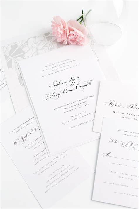 Elegant Wedding Invitations in Silver Wedding Invitations