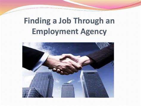 Finding A Job Through An Employment Agency