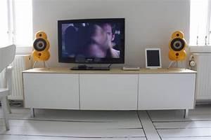 Ikea Hack Besta : vintage design living room with ikea besta media storage hack and white painted plywood ~ Markanthonyermac.com Haus und Dekorationen