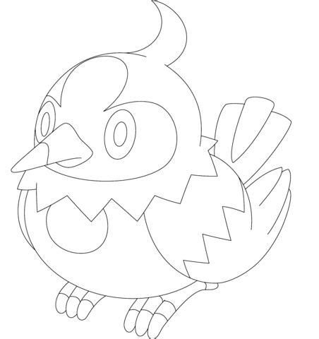starly coloring page  printable coloring pages