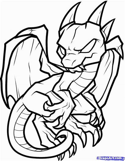 Coloring Dragon Pages Printable Dragons Library Clipart
