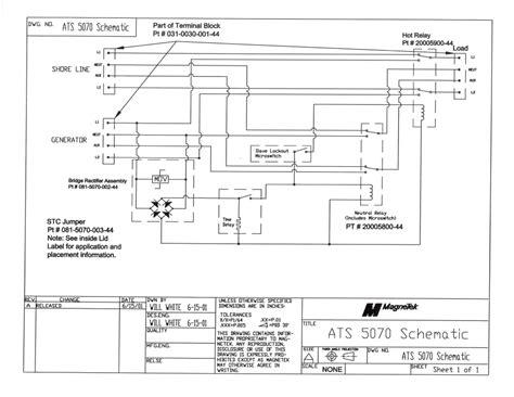 ats5070 generator automatic transfer switch