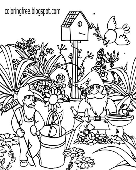 garden gnome coloring pages  getcoloringscom