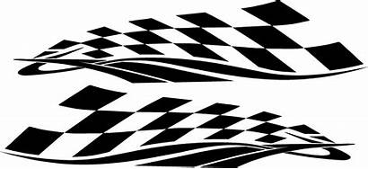 Checkered Vinyl Racing Graphics Flag Decals Designs