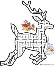 Christmas Reindeer Maze