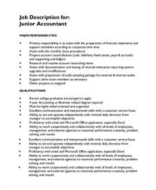 accountant description for resume sle accounting description 8 exles in pdf