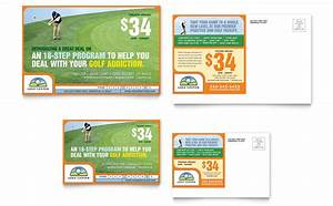 Training Course Flyer Template Golf Instructor Course Postcard Template Word Publisher