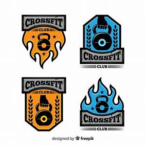 Flat design crossfit logo collection Vector   Free Download