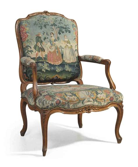 a louis xv beechwood fauteuil by charles francois