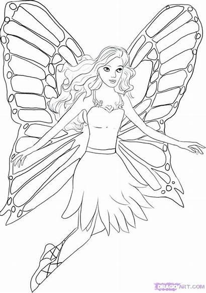 Mermaid Barbie Coloring Pages Tail Printable Getcolorings