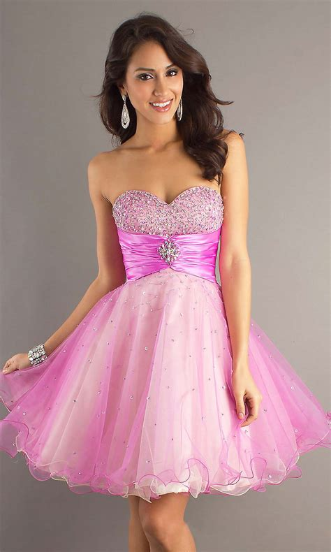 Pink Cocktail Dresses Knee Length  Style Jeans