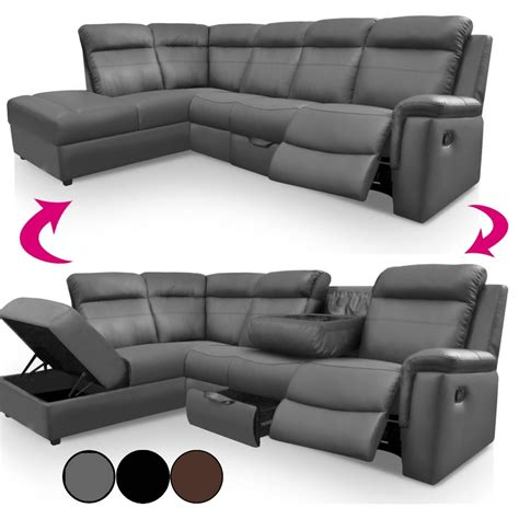 Canap Relax En Cuir Canape Relax Simili Cuir 15 Canapé Et Fauteuil Relax