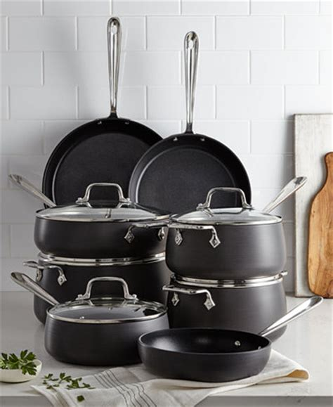 clad hard anodized  pc cookware set cookware sets