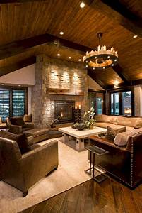 49, Superb, Cozy, And, Rustic, Cabin, Style, Living, Rooms, Ideas