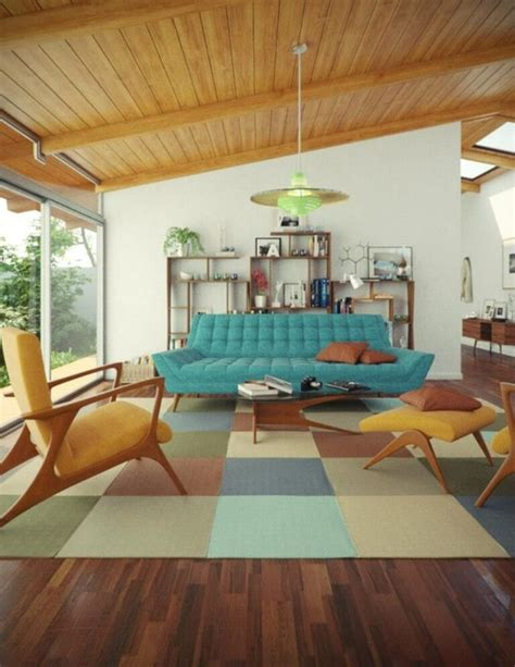 10 Modern Mid Century Living Room Interior Design Idea