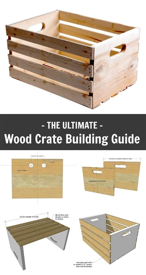 ana white wood crate building guide diy projects   plans pinterest