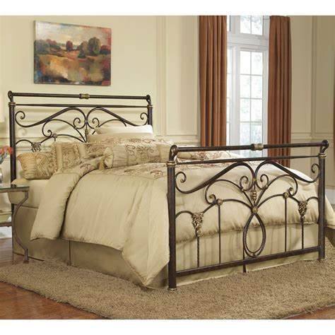 Lucinda Iron Bed In Marbled Russet  Humble Abode