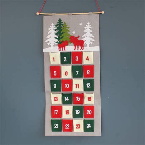 advent calendars hanging felt christmas advent calendar by posh totty designs interiors notonthehighstreet com