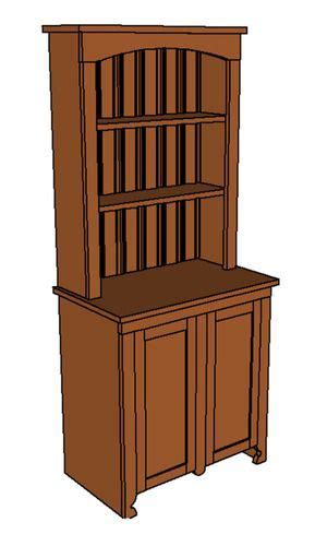 buffet hutch plans how to build a mini buffet with hutch by