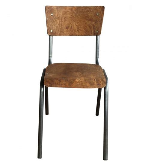 chaise bois et metal chaise écolier vintage bois et métal adulte wadiga com