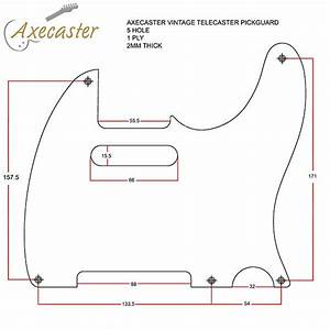 Telecaster Single Ply Pickguard  Pgtl-1ply