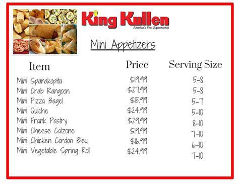 Deli Trays & Mini Appetizers - King Kullen