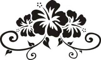 design stickers hibiscus floral design custom wall graphics