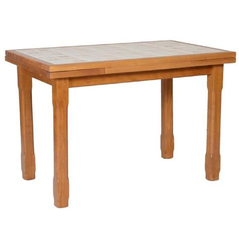 table cuisine table cuisine carrelée 110 x 70 2 allonges achat