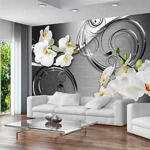 Deco Mur Interieur Moderne : papier peint 3d cr ant un effet abstrait et trompe l il ~ Teatrodelosmanantiales.com Idées de Décoration
