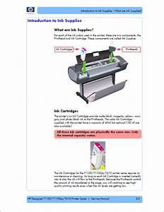 Hp Designjet T1100 T1100ps T610 Service Manual